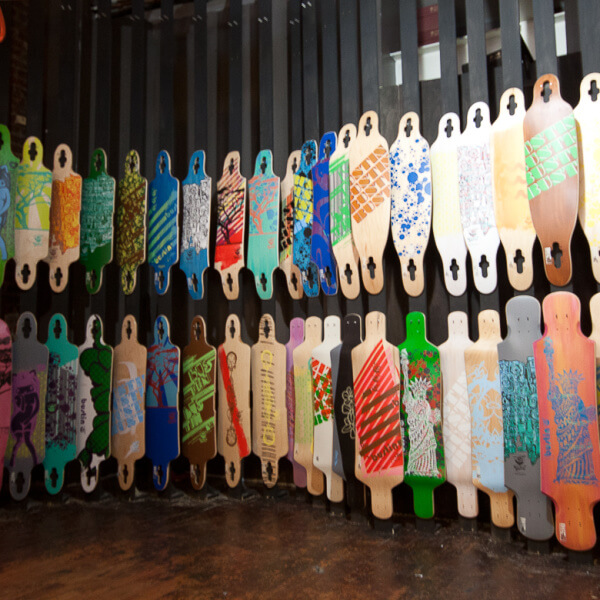 Longboard Loft Skateboard Display