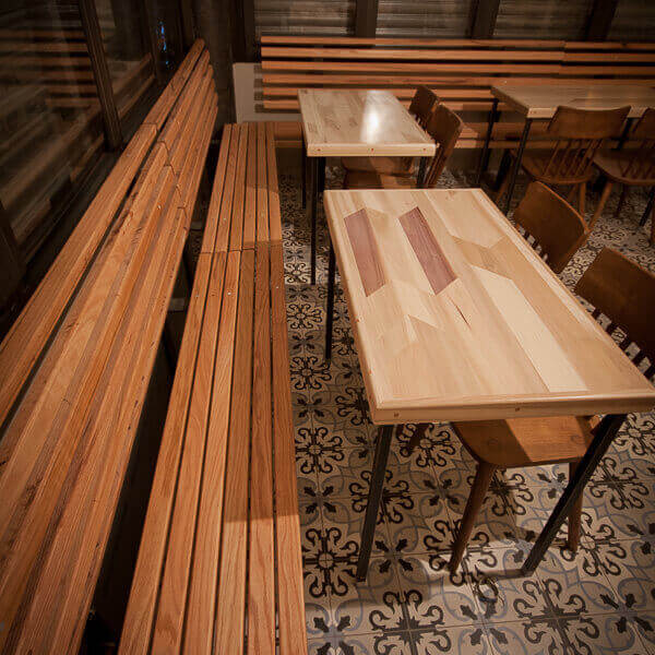 Indoor Cafe Seating Benches